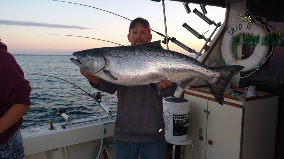 Trio Fishing Charters Lake Michigan Fishing Algoma Kewaunee Door County